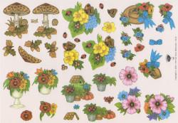 Tierelantijntje knipvel bloemen 2213 (Locatie: 4519)