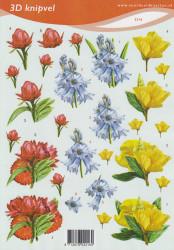 Voorbeeldkaarten knipvel bloemen 2216 (Locatie: 1561)