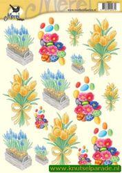 Voorbeeldkaarten knipvel merel voorjaar/pasen 2437 (Locatie: 404)