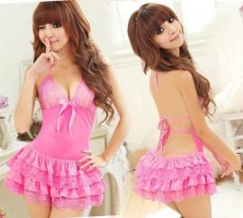 Нежно розова секси рокля/нощница изображения
