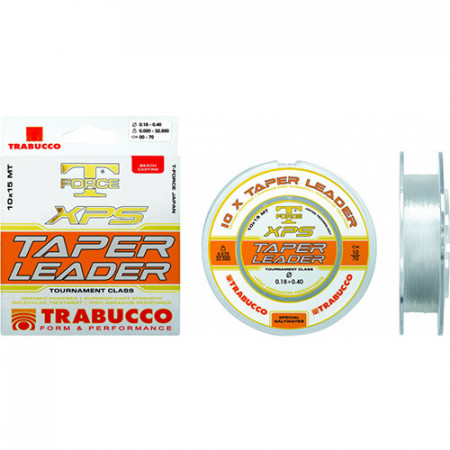 Fir Trabucco T-FORCE XPS Taper Leader 0,20-0,50mm/5,42-27,50kg/10x15m
