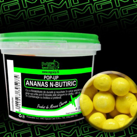 Pop-up MG special carp Ananas N-Butiric 10mm si 14mm