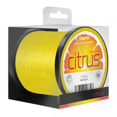 Fir Delphin CITRUS / galben 0,25mm 11lbs 1200m