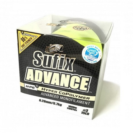Fir Sufix ADVANCE 1000M 0.20MM/4.5KG 1.5/10LB/HI VIS YELLOW