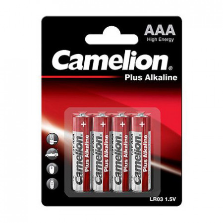 Baterii Camelion Plus Alkaline 4xAAA LR3 1,5V