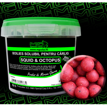 Boilies carlig solubil MG special carp Squid&Octopus