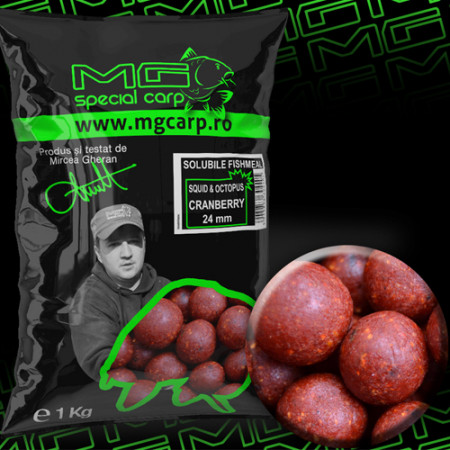 Boilies solubil MG special carp Squid&Octopus Cranberry EA 24mm