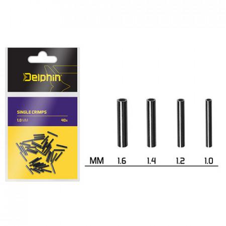 Delphin Single CRIMPS / 40buc 1.6mm