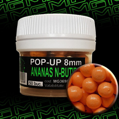Pop-up MG special carp Ananas N-Butiric 8mm 50 buc.