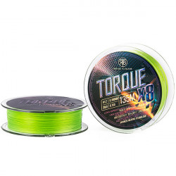 Fir textil RTB Torque X8 Braid Chartreuse 0.149mm/14lb/135m