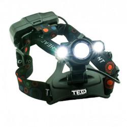 Lanterna cap cu incarcare 3 LED 16W