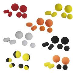 Pop-up & dumbbell din spuma flotanta - galben & negru (12 buc)