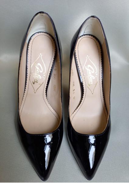 Pantofi piele, 1091 lac, Guban