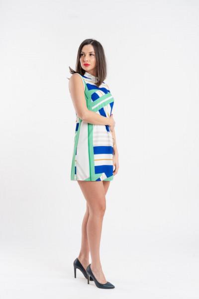 Rochie verde cu guler TIAGO Angy Six