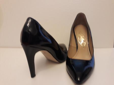 Pantofi Guban, piele lac, toc 9 cm, culoare negru