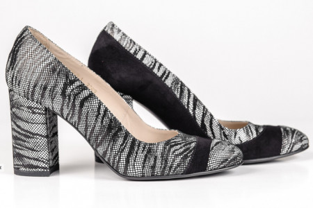 Pantofi negri piele naturala 3283 Guban