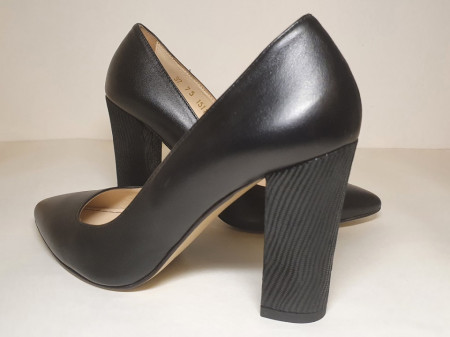 Pantofi negri piele naturala 1131 Guban