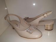Pantofi femei decupati la spate 3297, piele naturala Guban