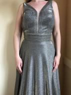 Rochie lunga de ocazie, culoare brun auriu