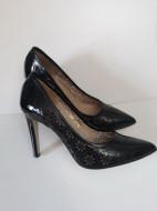 Pantofi dama,piele naturala lacuita, toc 9,5 cm, Guban