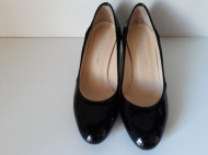 Pantofi piele naturala lac+velur, Osvaldo Rossi