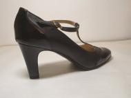 Pantofi negri Guban, 3245, piele naturala