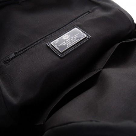 Rucsac negru din piele naturala CARTA