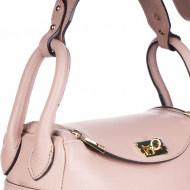 Geanta roz prafuit din piele naturala CARARRA