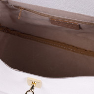 Geanta alba din piele naturala CARARRA