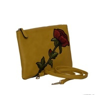 Plic galben broderie trandafir Campobasso