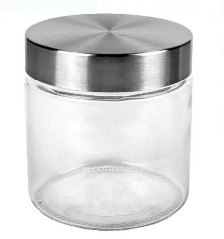Borcan din sticla cu capac metalic 800 ml.