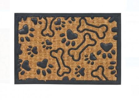 Covor de ușă - Maro Negru - Model catel 60x40 cm