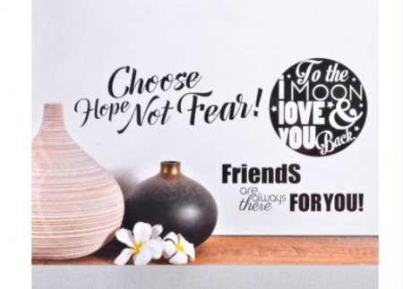 Sticker perete cu mesaj de dragoste, 50x32cm