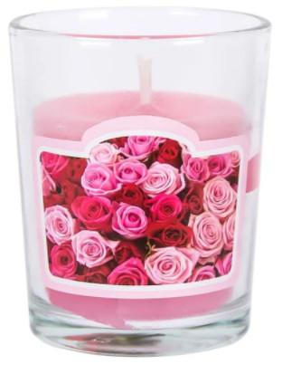 lumanare roz parfumata