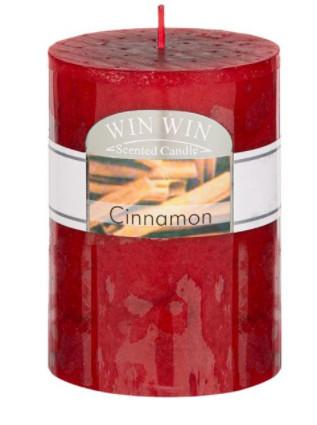 Lumanare tip coloana, aroma de scortisoara, 6,8x9,5 cm