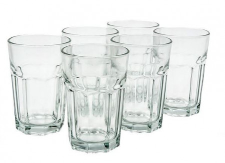 Set pahar de apă transparent și înalt 6 buc
