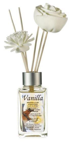 Ulei aromatic de vanilie cu betisoare și flori - 100 ml