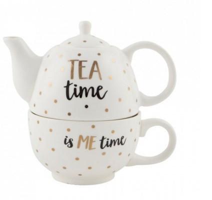 Ceainic cu cana din ceramica SASS&BELLE, 15 x 14 cm