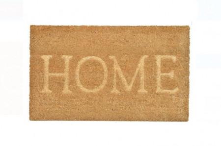 """Covor de ușă - Covor de ușă Culoare naturală Reliefat Mesaj """"Acasă"""" 75x45 cm"""