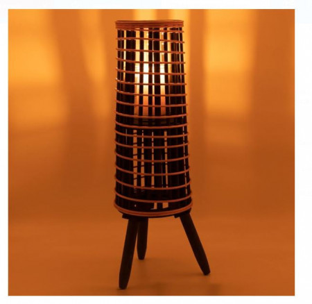 Felinar decorativ tip spiralata maro închis 15,5x56 cm