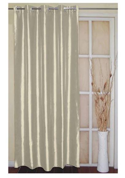 Perdea laterală Faux Silk Ecru 140x250 cm