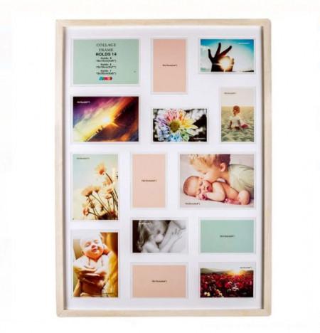 Rama foto din lemn - 14 fotografii - 72,5x52 cm