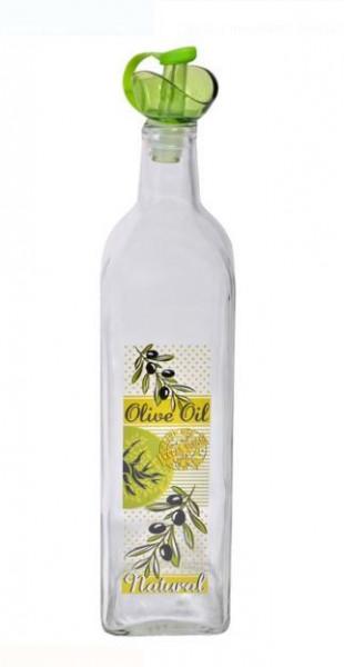 Recipient de sticlă pentru ulei cu capac din plastic 750 ml