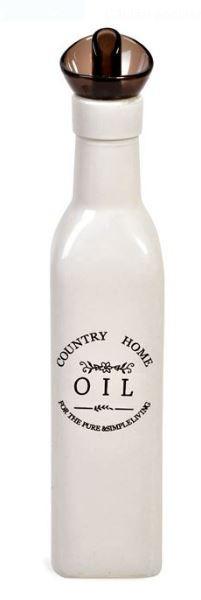 Recipient pentru ulei din ceramica alba 250 ml.
