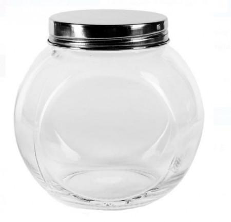 Borcan din sticlă cu capac metalic 450 ml