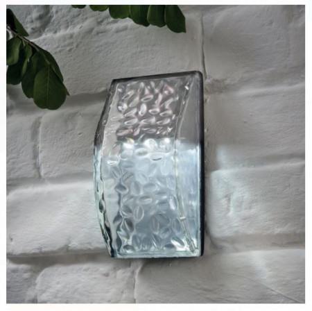 Lanternă solară montată pe perete, cu 3 leduri (lumină albă)