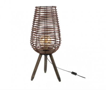 Lampa podea - 3 picioare - spiral + lampa