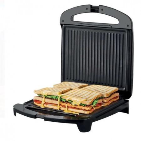 Sandwich Maker - Gratar Negru Argintiu 1500 W, 32x14,5x36 cm