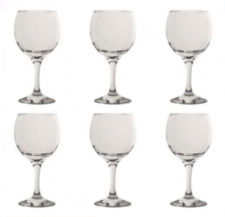 Set pahare de apa cu picior - 6 buc