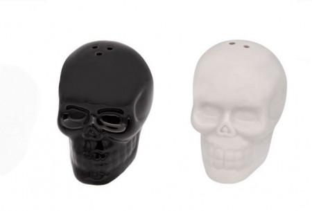 Set solnita de sare si piper in forma de craniu